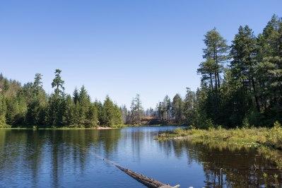 Wood Lake camping lake view