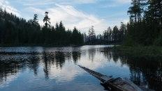 Wood Lake reflections dusk
